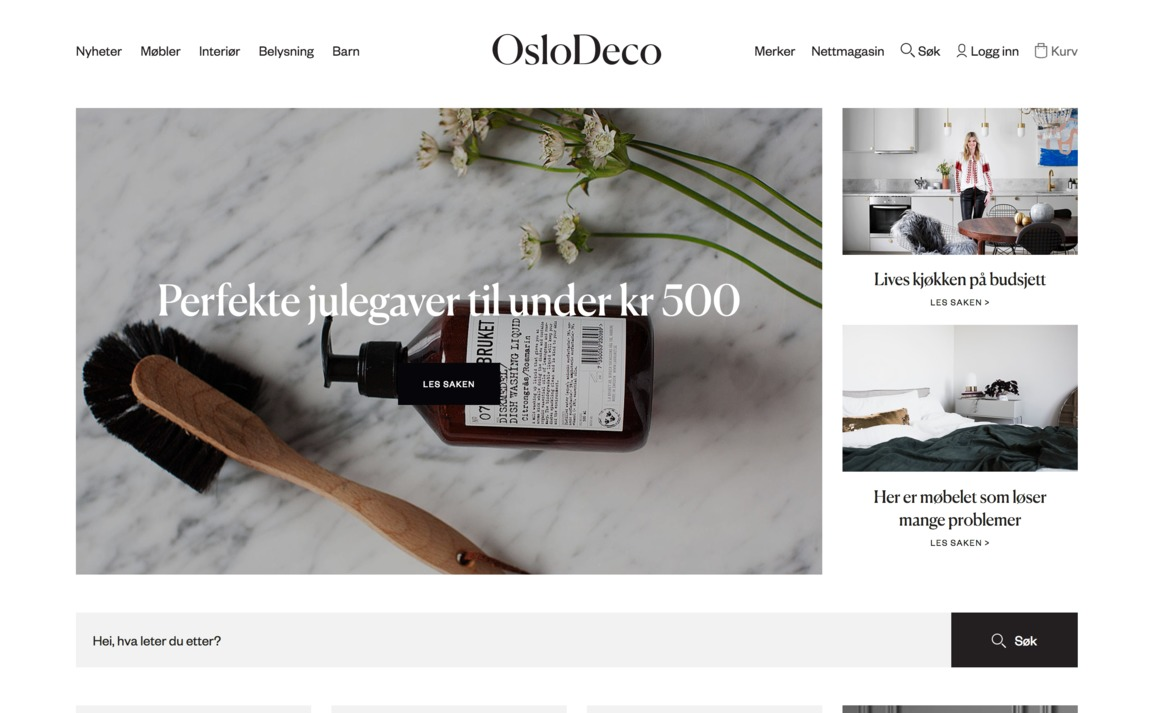 Oslodeco siteinspire for Interior design sites