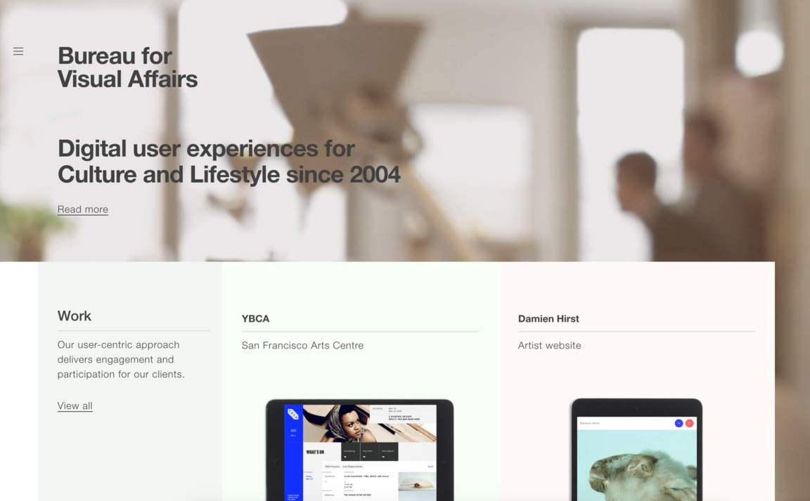 bureau for visual affairs siteinspire