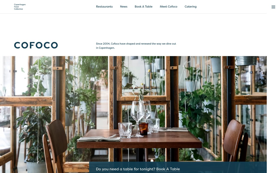Café, Bar & Restaurant websites — siteInspire